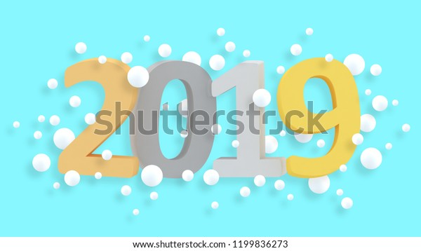 2019 New Year Wallpaper 3d Background  Royalty-Free Stock Image