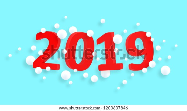 2019 New Year Wallpaper 3d Background Stock Illustration 1203637846