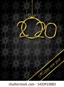 2020 Happy New Year background for your seasonal invitations, festive posters, greetings cards.