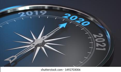 2020 - Modern Compass (3D Rendering)