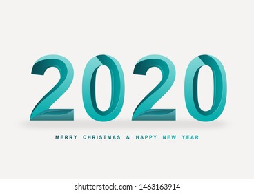 2020 new year green font background