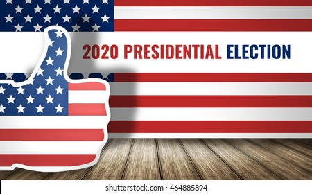 2020 presidential election america flag 3d render