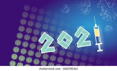 2021, happy new year, the year of solution without text