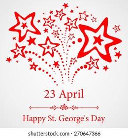 23 april. Happy St George Day.  Illustration