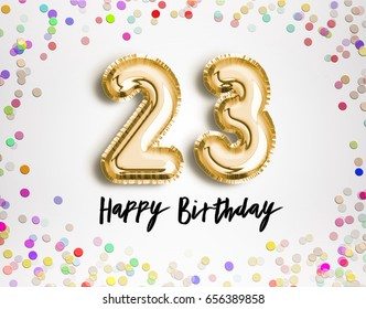 Happy 23rd Birthday Images Stock Photos Vectors Shutterstock