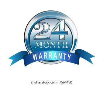 24 month warranty icon