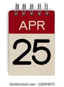 25 april calendar