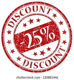 25% discount stamp