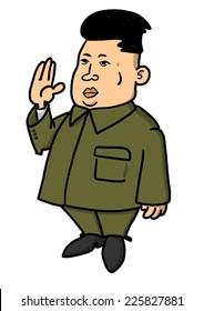 25 October, 2014: Illustration of North Korean leader Kim Jong-un in popular pose