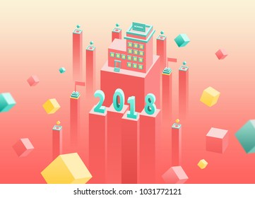 2.5d-2018 pink square