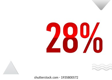 28 Percent off Sign on White Background, Special Offer 28% Discount Tag, Sale Up to 28 Percent Off, big offer, Sale, Special Offer Label, Sticker, Tag, Banner, Advertising, offer Icon