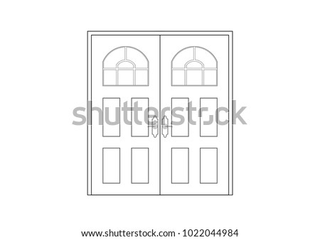 Royalty Free Stock Illustration Of 2 D Cad Architectural Drawing