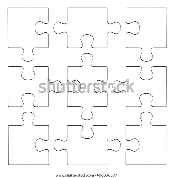 2d Cartoon Illustration Puzzle Stock Illustration 406006597