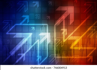 2D Digital Abstract Business Networking background