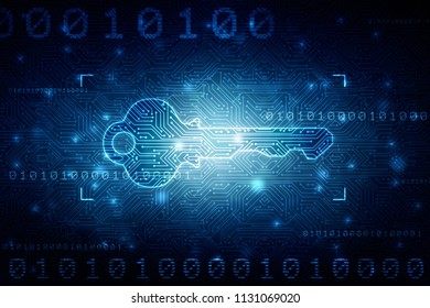 2d digital abstract technology digital future cyber security key