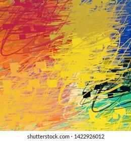 2d illustration. Abstract geometric pattern. Modern art drawing. Digital texture.