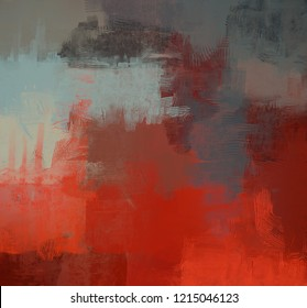 2d illustration. Artistic background image. Abstract painting on canvas. Contemporary art. Hand made art. Colorful texture. Modern artwork. Brushstrokes. Strokes of fat paint on surface.