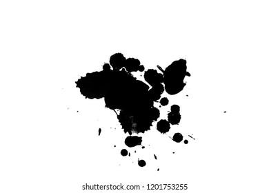 2 d illustration colorful ink splashes paint stock illustration