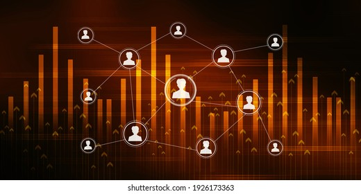 2d illustration Business Network concept