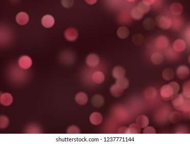 2d illustration of christmas bokeh on dark background. abstract texture. Colorful. Defocused background. Blurred bright light. Circular points. Christmas eve time.