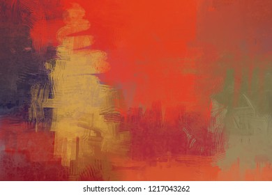 2d illustration. Contemporary art. Hand made art. Colorful texture. Modern artwork. Strokes of fat paint. Brushstrokes. Abstract painting on canvas. Artistic painted background image art on wall.