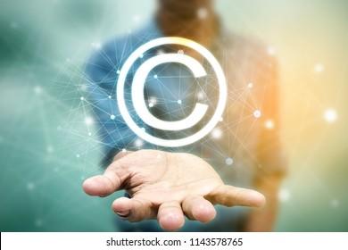 2d illustration copyright symbol concept