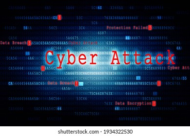 2d illustration Cyber Attack A06