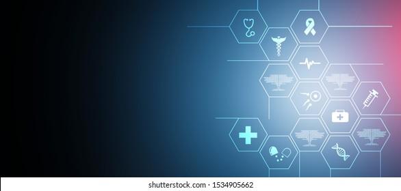 2D illustration medical structure background