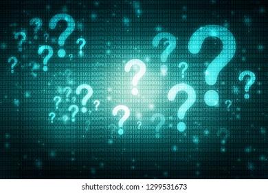 2d illustration question mark