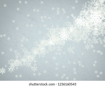 2d illustration. Snowflakes image pattern on colorful background. Holy Christmas day event time. Decorative paper card. Christmas eve celebration. Decoration paper texture illustration.