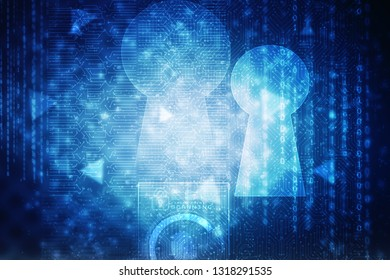 2d illustration technology cyber security