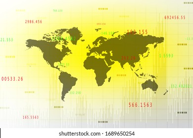 2d illustration world map abstract background