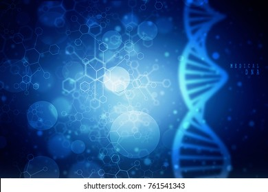 2d render of DNA structure, abstract background