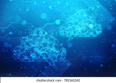 2d rendering Cloud computing, Cloud Computing Concept, Cloud Network