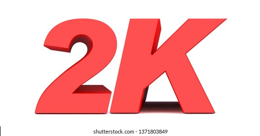 2k or 2000 thank you 3d word on white background. 3d illustration for Social Network friends or followers, likes