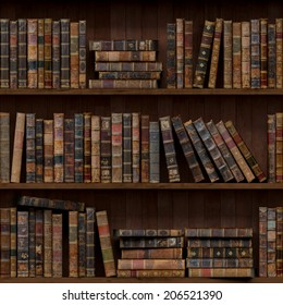 2of15 Old books seamless texture (vertically and horizontally). Tiled Bookshelf Background. Also tiled with other 15 textures from same pack in my gallery.