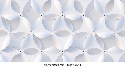 3 d illustration.White seamless wall panel. White glossy relief panel.3D rendering abstract background.Holiday background, greeting card.3d geometric background with shadow. 3d panel.Render