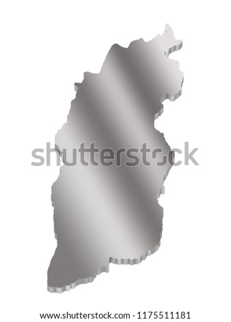 Shanxi China Map.3 D Map Shanxi China Metal Stock Illustration 1175511181 Shutterstock