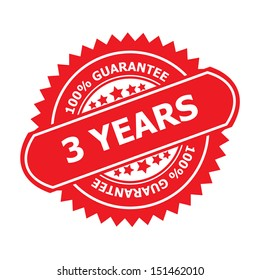 3 years guarantee symbol.-jpg format