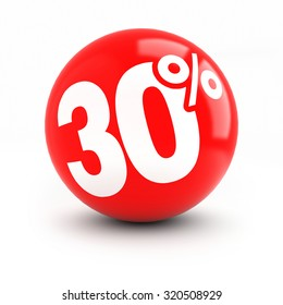 30% discount red ball. thirty ball