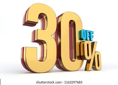30 % Off / Discount 3d Render