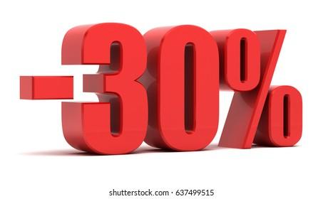 30 percent off.