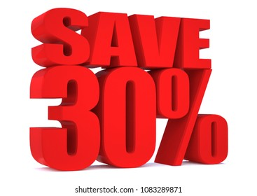 30 Percent off 3d Sign on White Background, Special Offer 30% Discount Tag, Sale Up to 30 Percent Off,big offer, Sale, Special Offer Label, Sticker, Tag, Banner, Advertising, offer Icon, save money