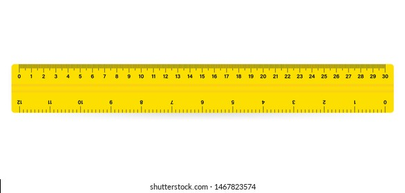 30cm Measure Tape ruler school metric measurement. Metric ruler.