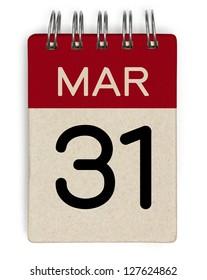 31 march calendar