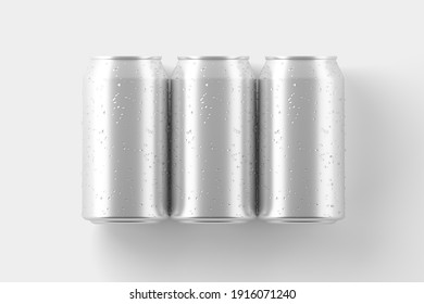 330ml Soda Can White Blank 3D Rendering Mockup