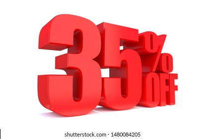35 Percent off 3d Sign on White Background, Special Offer 35% Discount Tag, Sale Up to 35 Percent Off,big offer, Sale, Special Offer Label, Sticker, Tag, Banner, Advertising, offer Icon