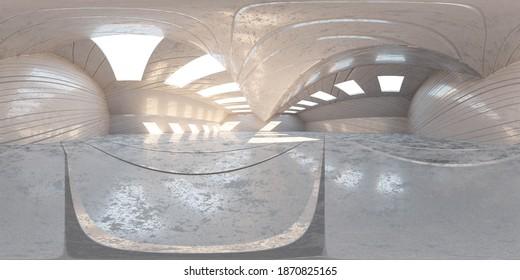 360 degree equi rectangular panorma hdr vr style background 3d render illustration
