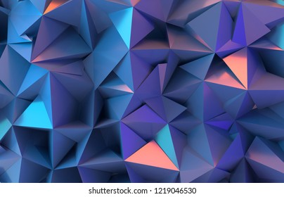 3d Abstract background. Polygonal background.