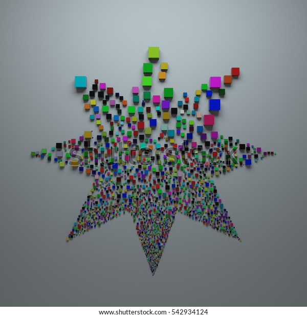 3d Abstract Background Randomly Generated Geometry Stock